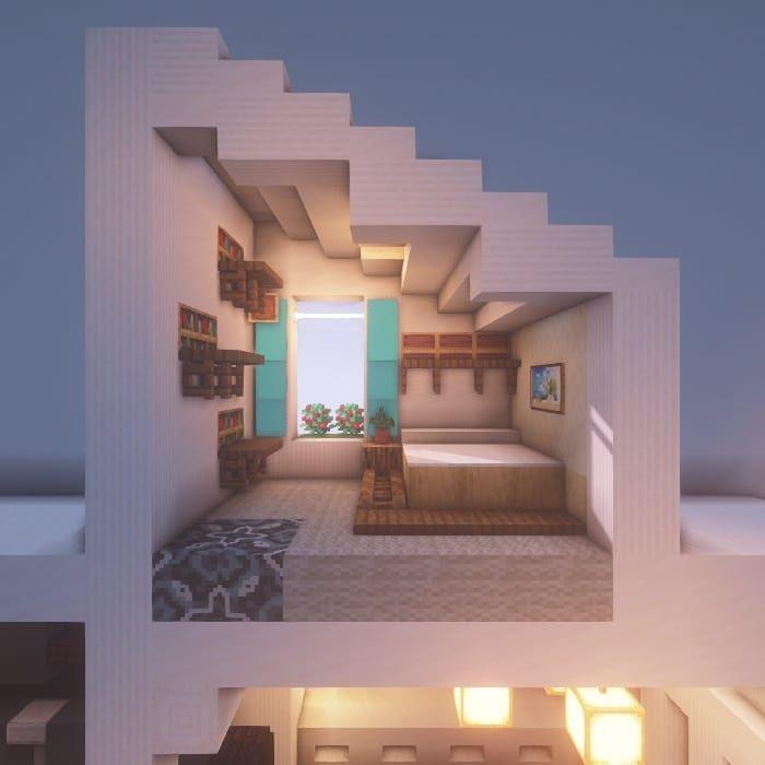 7 194 Gilla Markeringar 18 Kommentarer ästhetischer Rüstungsstand Sunrise Mc Easy Minecraft Houses Minecraft Room Minecraft Houses Blueprints