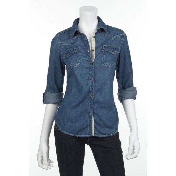 Levi's Denim Button Down Shirt | Women's Denim Shirts | OMG Jeans ...