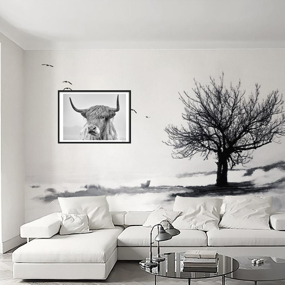 Photo of Cow Portrait Poster Prints Wall Art Painting Pictures for Living Room Home Decor – as the picture r
