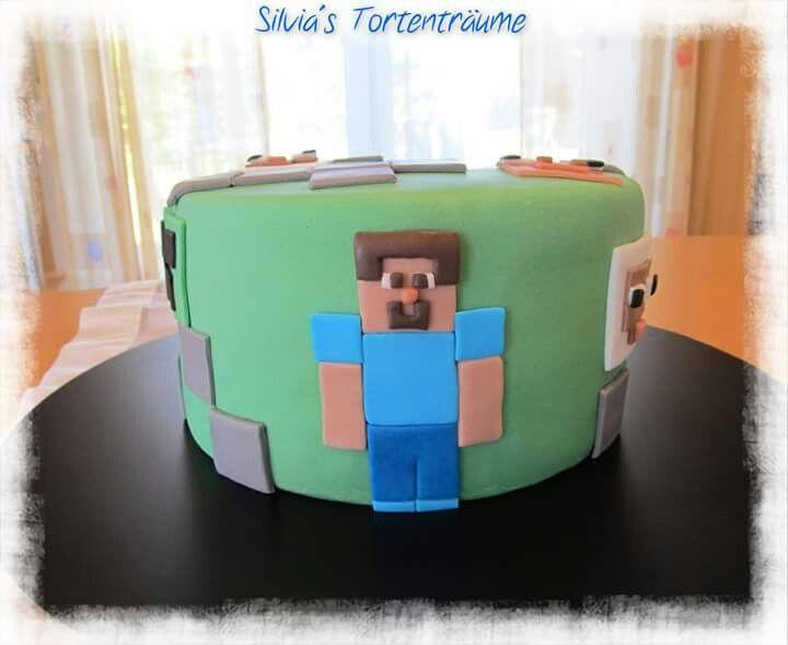 Silvia S Tortentraume Minecraft Minecraft Kuchen Torte Smarties