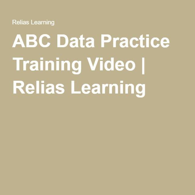 ABC Data Practice Training Video Relias Learning BCBA - functional behavior assessment