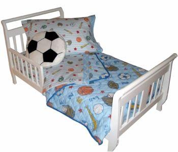 Crayola Sports Light Blue Toddler Bedding Set