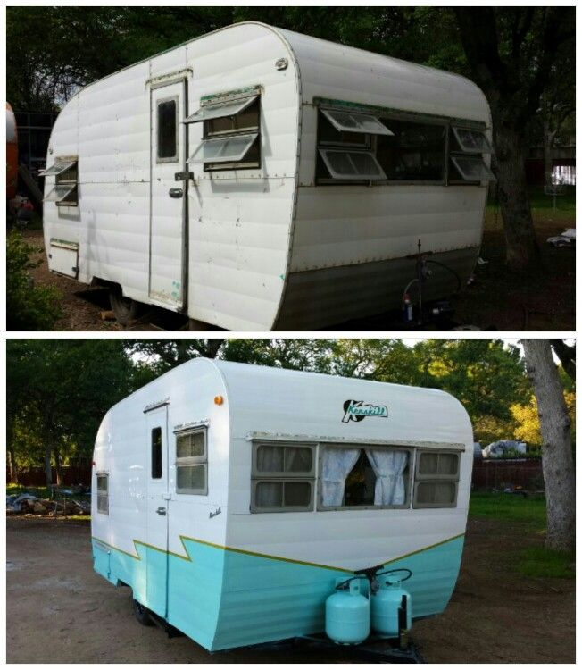 Our 1950 S Kenskill Before And After Vintage Travel Trailers