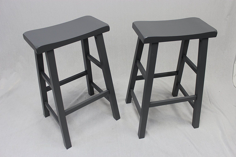 I Bought 4 Of These For My New Long Narrow Bar Amazon Com Set Of 2 Heavy Duty Saddle Seat Bar Stools Counte Bar Stools Saddle Seat Bar Stool Counter Stools