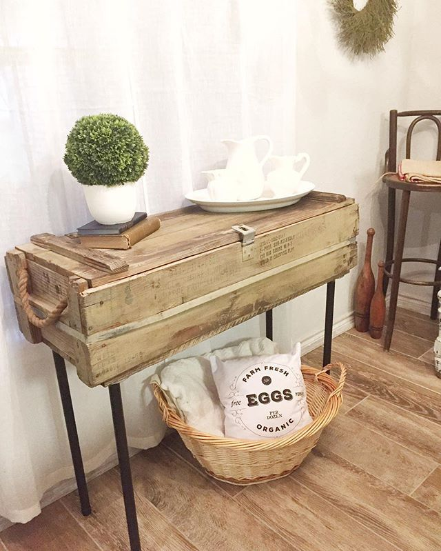 Ammo Box Side Table Upcycle Make A Table Wood Boxes Decor