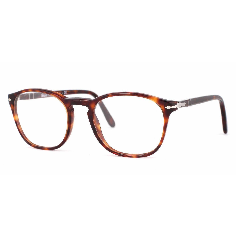 Persol Mens PO3007V 24 Havana Square Eyeglasses | essentials | Pinterest