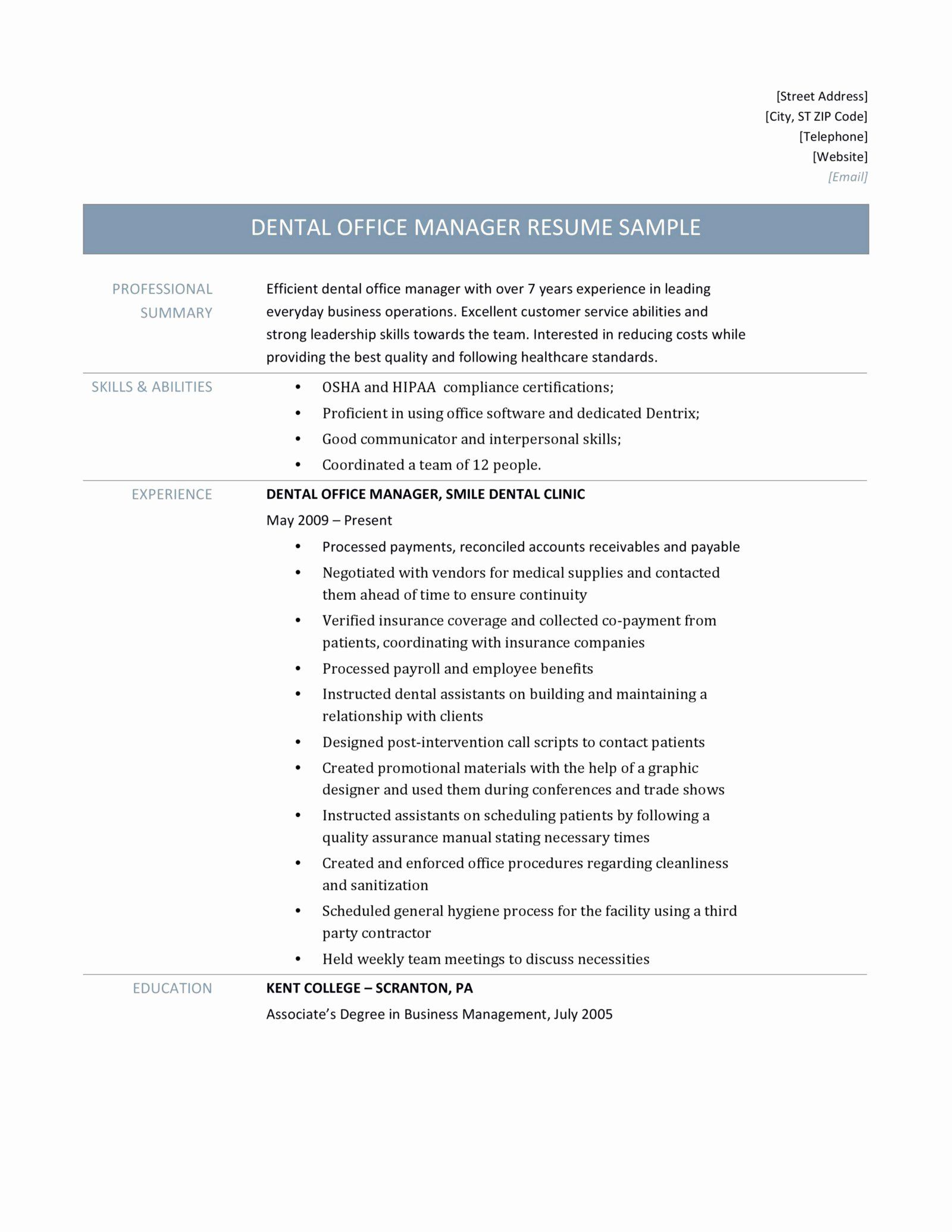 Dental Office Manager Resume Inspirational Dental Fice