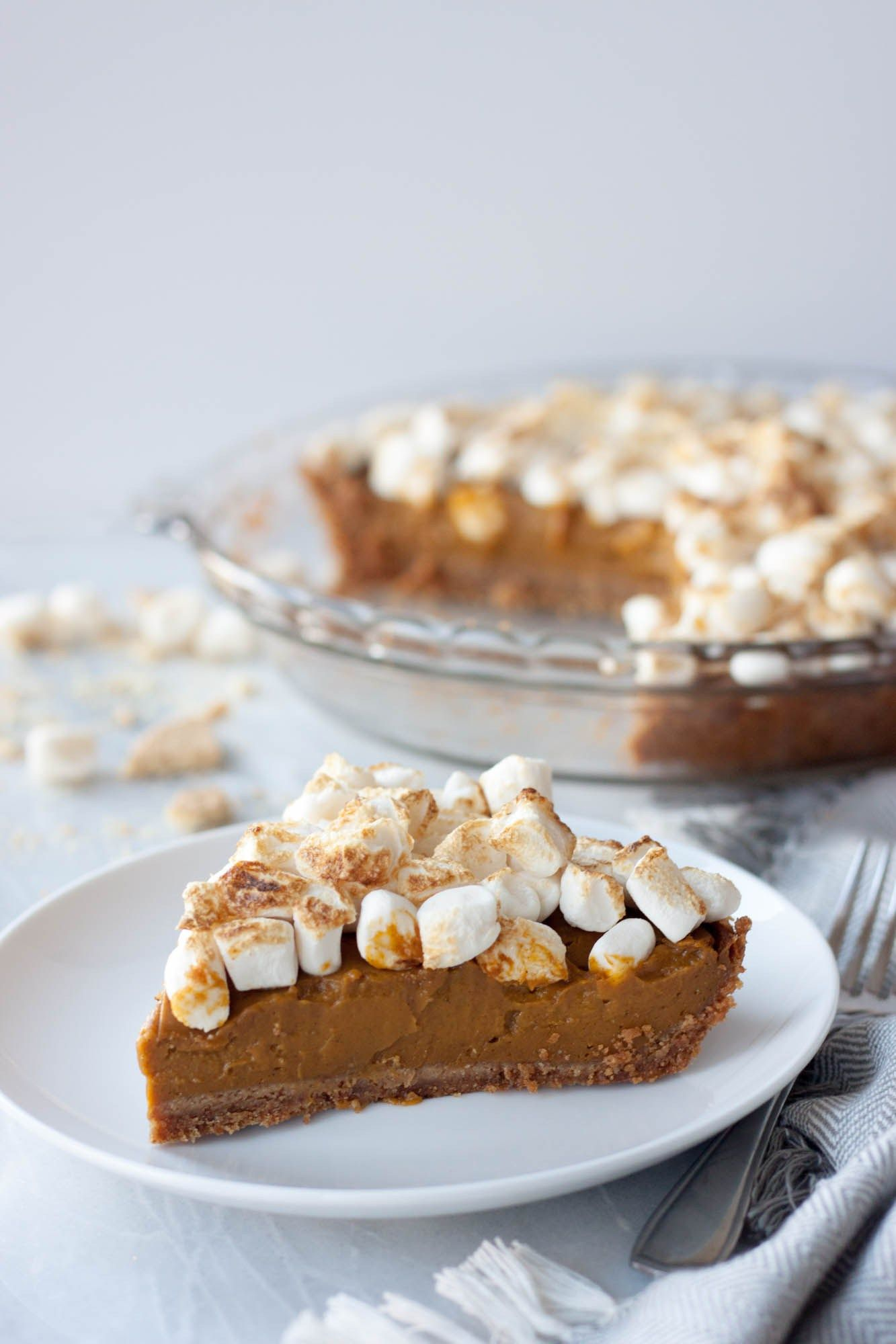 Vegan Sweet Potato Pie And Yes These Marshmallows Are Vegan Theveglife Com In 2020 Vegan Sweet Potato Pie Sweet Potato Pie Vegan Sweet Potato
