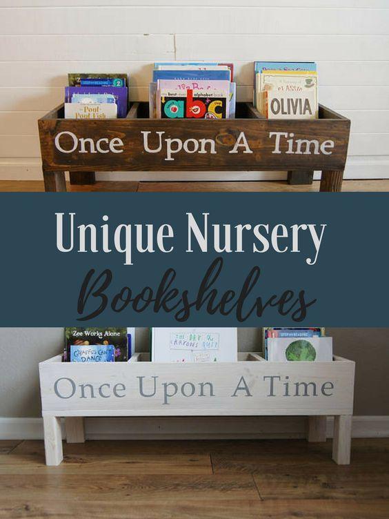 Book Shelf, Baby Nursery, Bookcase, Book Bin, Kids Storage, Bookcase,