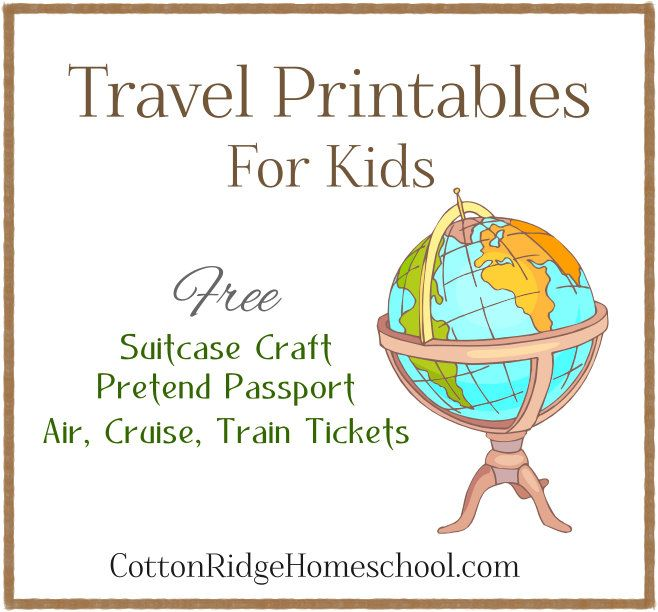 Fantastic travel printables for airport/ travel dramatic play