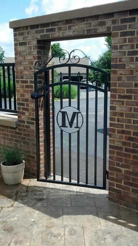 Custom Made Wrought Iron Gate Iron Garden Gates Backyard Furniture Metal Garden Gates