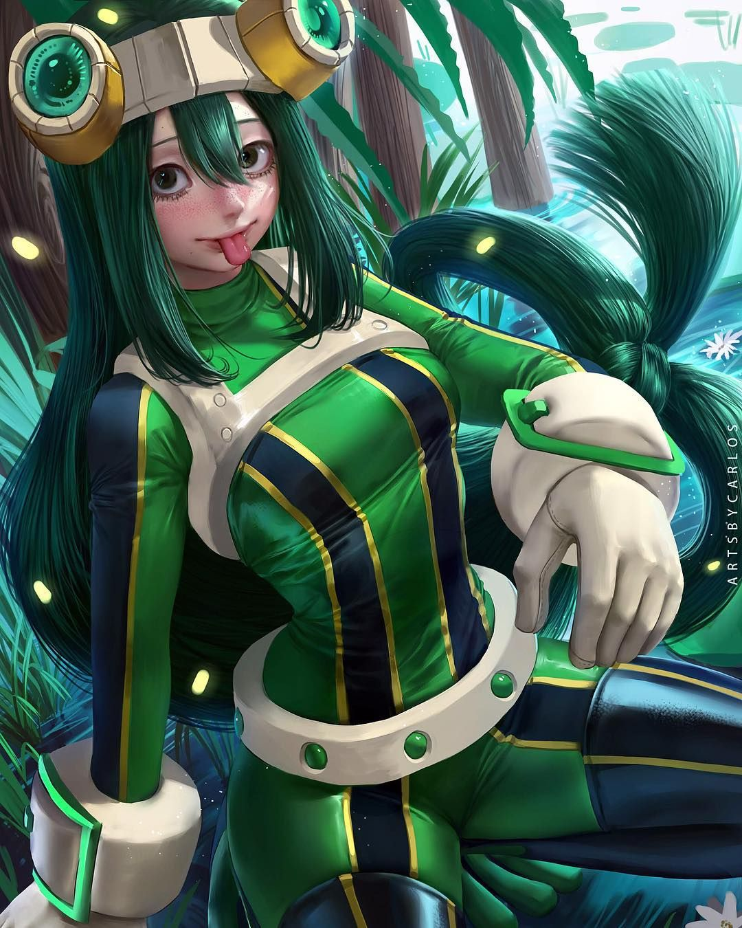 Image May Contain 1 Person My Hero Academia Tsuyu Hero Hero