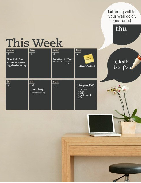 a planner to have and to hold | for my office | blackboard wall