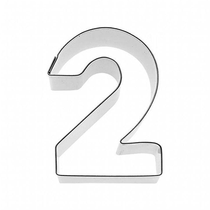 Birkmann Ausstechform ZAHL 2 Ausstecher Keksausstecher Plätzchenausstecher Form