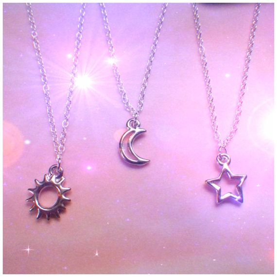 Well-liked Best friend sun moon star necklaces his and hers best friend gift  LU54