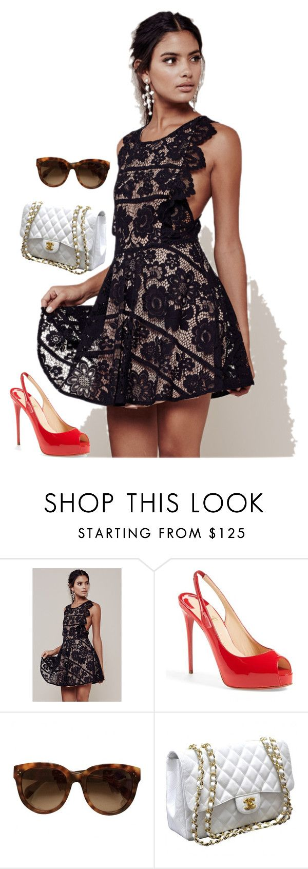 """Untitled #786"" by shanapee on Polyvore featuring Christian Louboutin and Chanel"