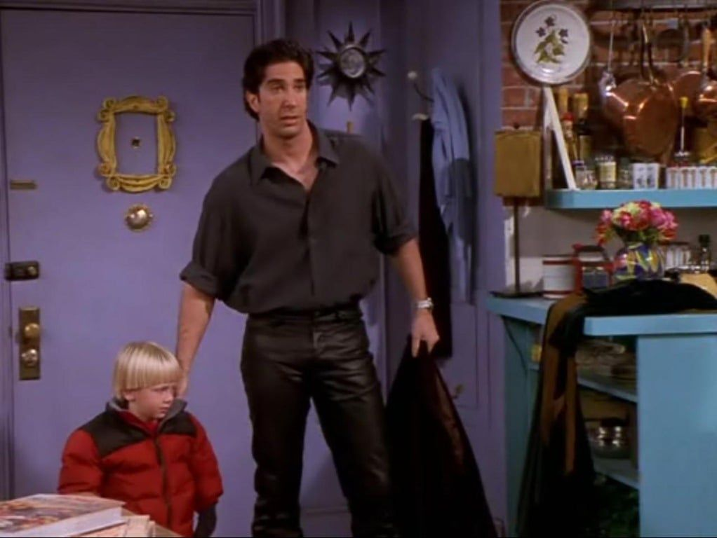 Decorative image of Ross from friends demonstrating 90's fashion