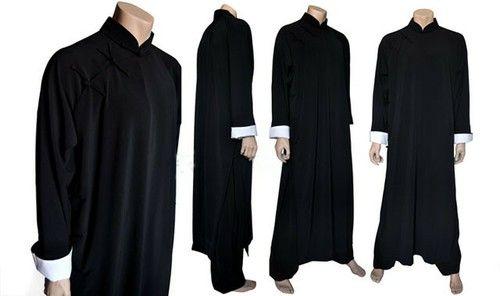 Black Ip Man Style Wing Chung Kung Fu Long Coat For Men By Asia Sale Best Tai Chi Kung Fu Clothing Equipment Shop Long Coat Men Mens Clothing Styles Ip Man