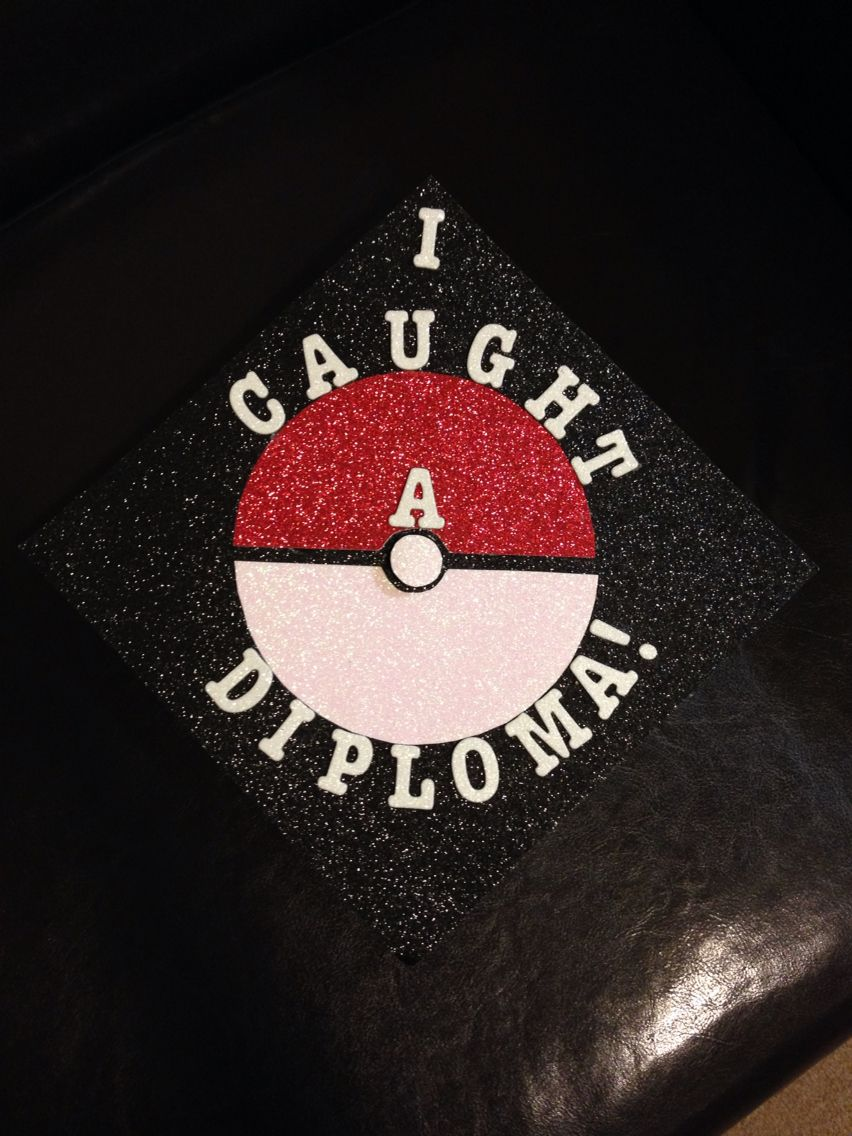 Decorating graduation cap ideas for teachers - Pokemon Themed Graduation Cap Graduation Graduationcap Pokemon