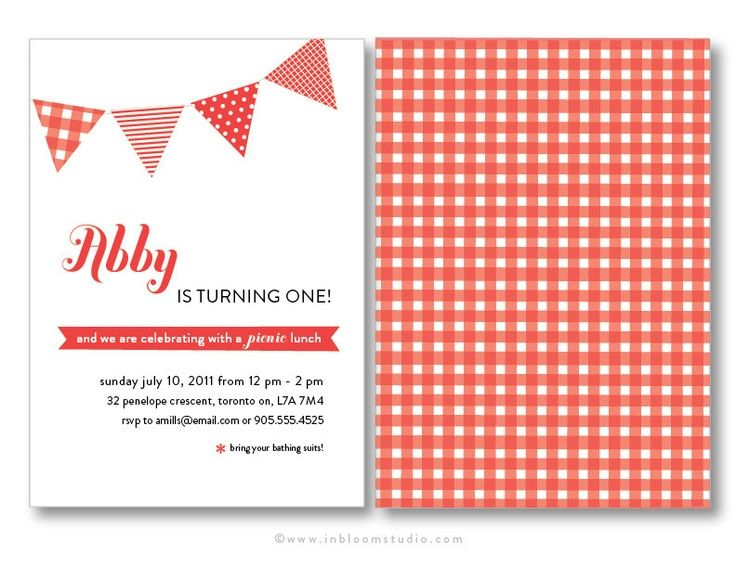 Picnic Birthday Party Invitations My Birthday Pinterest - picnic invitation template