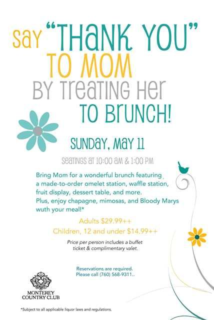 New MotherS Day Brunch Flyer Poster Template  Mothers Day