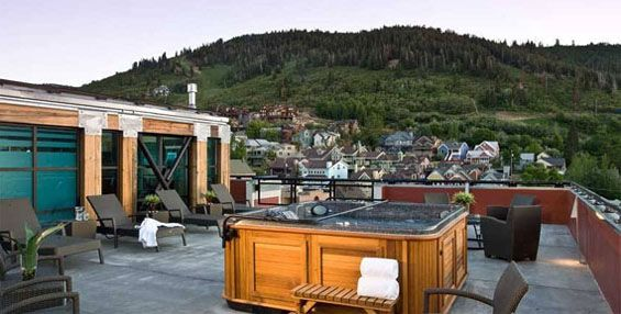 Top 10 rooftop bars. Sky Blue bar in the resort Park City ...