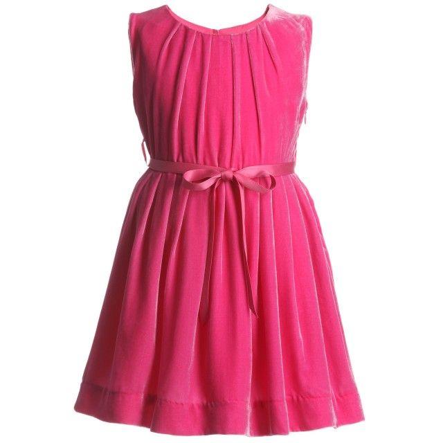 74cac0e51817 Rachel Riley - Pink Silk Velvet Dress