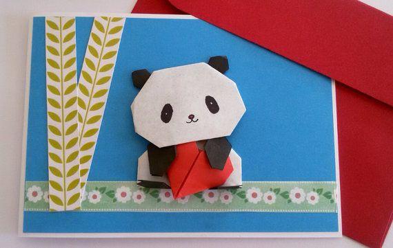 Panda Birthday Card For Girlfriend Origami Panda Pop Up Card