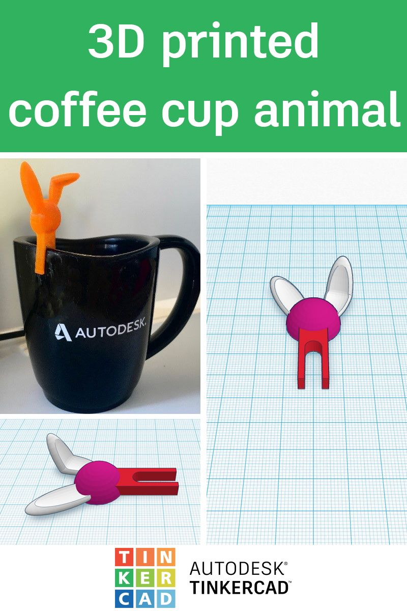Design and 3D Print a Coffee Cup Animal Coffee cups, 3d