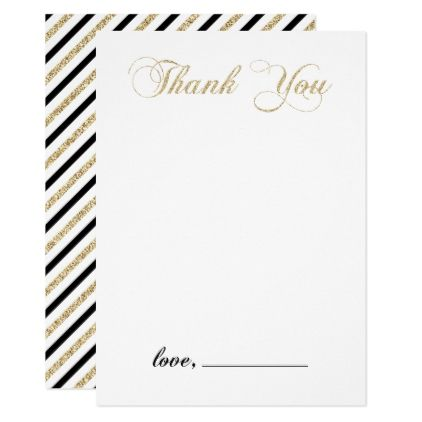 Modern Gold Boy Baby Shower - Thank you note card Boy baby - baby shower thank you notes