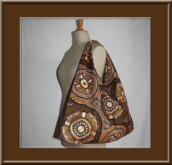 Azuma Bukuro, sac japonais dans un tissu africain. : Sacs bandoulière par izabelle