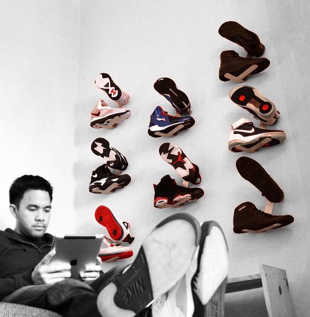 5b5702347 For all your kicks  Shrine Sneaker Rack-a wall mounted sneaker display  rack-by Fernando A. Robert.
