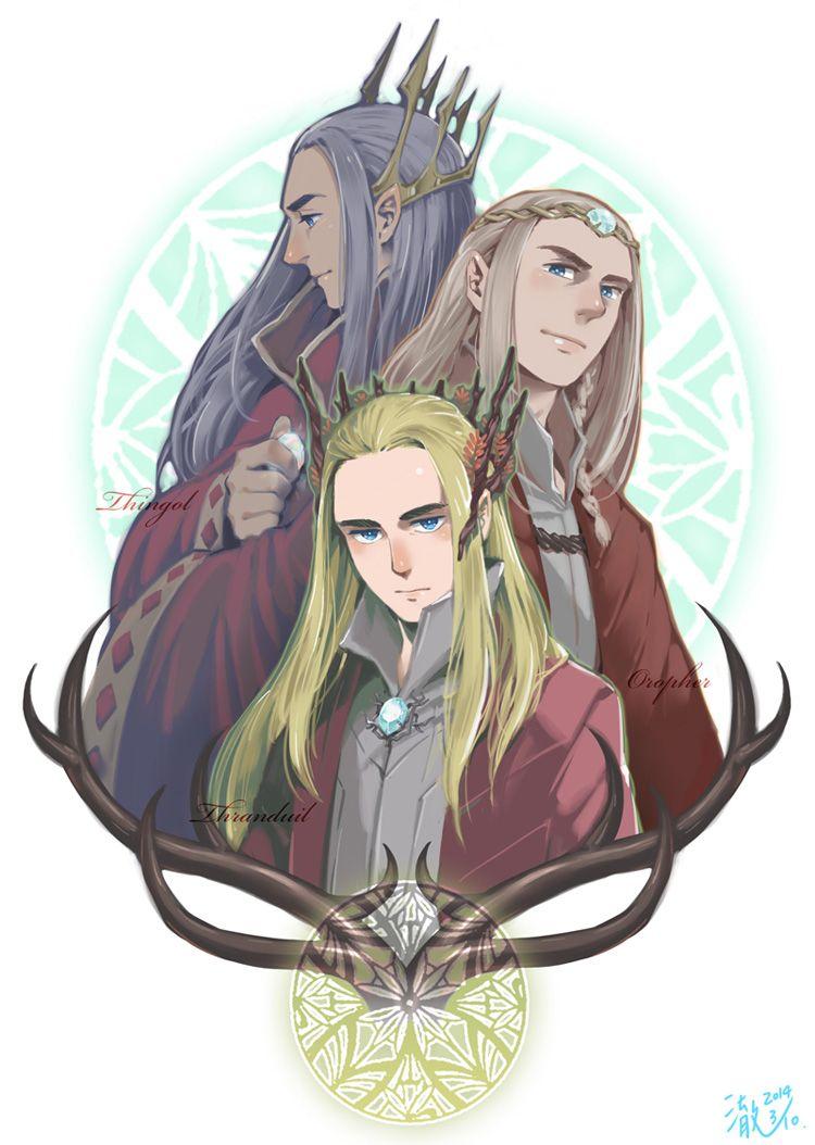 Thingol, Oropher and Thranduil --- so Thingol is Thranduil's