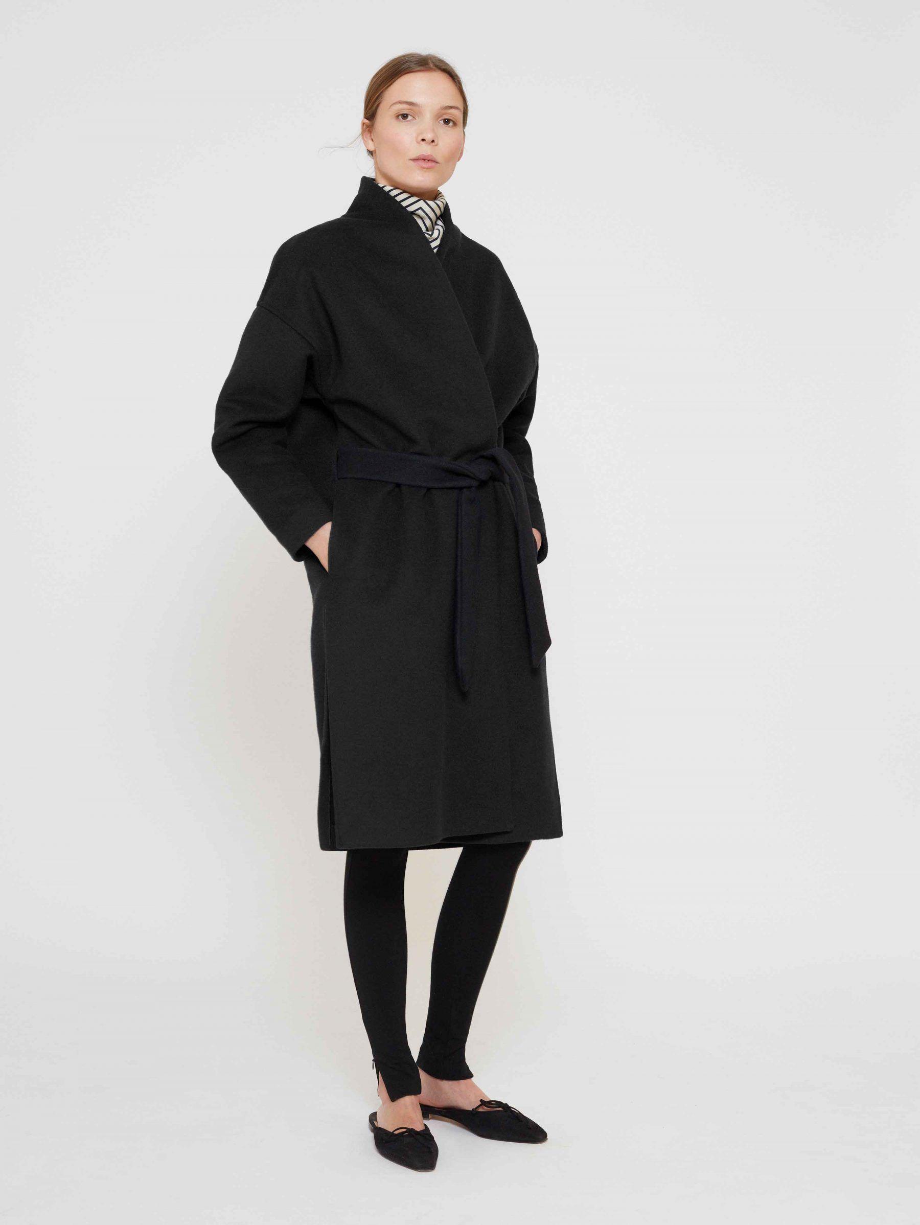 0e6bbcaf07b7 toteme_aw17_chelsea_black_front-1 Shop Jackets, Long Wool Coat, Wrap Coat,  Fall Looks,