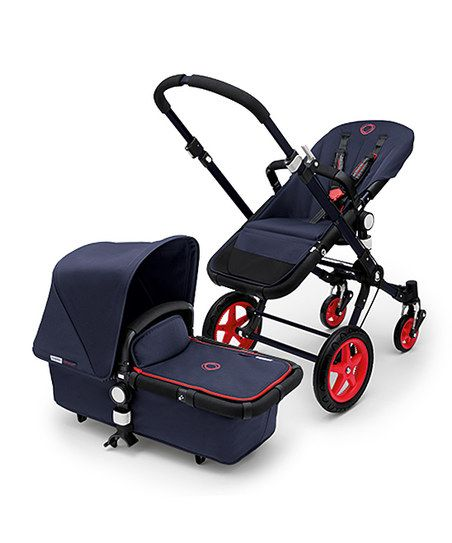 Bugaboo Navy & Fluorescent Coral Red Cameleon+ Stroller | zulily