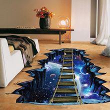 78fe685c3f8dc NUEVA Gran 3d Etiqueta de La Pared Estrella Galaxia Espacio Cósmico Casa  Puente decoración para Niños Sala de Piso de la Sala Tatuajes de Pared  Decoración ...