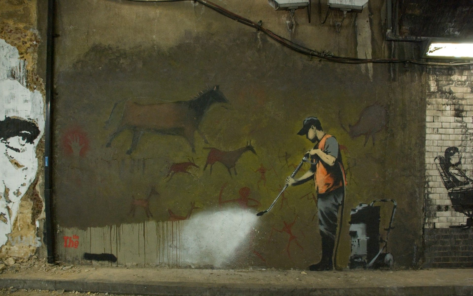 Leake Street London attributed to Banksy 22 x 28 Poster Print by Anonymous graffiti attributed to Banksy