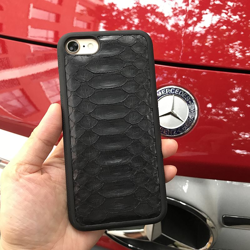 Luxury Genuine Python Snake Case For Iphone Black/Green