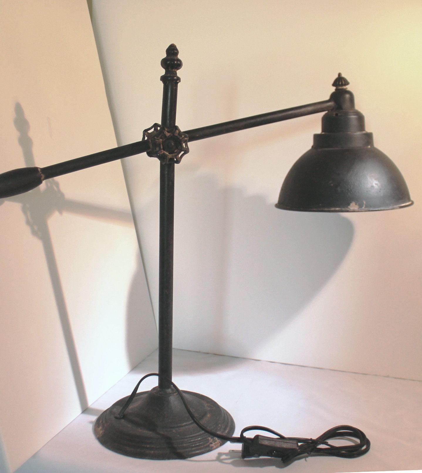 Tall rustic vintage industrial adjustable swing arm iron task table tall rustic modern vintage industrial adjustable swing arm iron task table lamp aloadofball Images