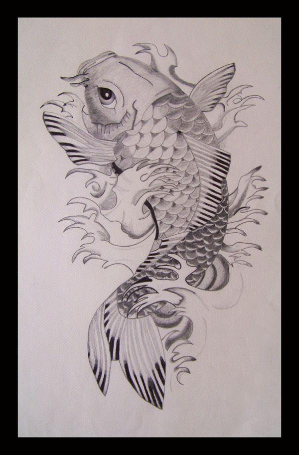 Pez Koi By Igiriela Jimenez Via Behance Koi Koi Tattoo Animal Tattoo