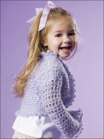 Girls crochet shrug sweater crochet knitting pinterest easy crochet fandeluxe Gallery