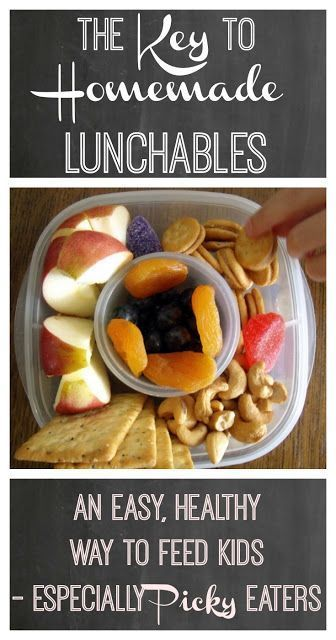 The Key to Homemade Lunchables. An easy, healthy way to feed kids - especially picky eaters. images