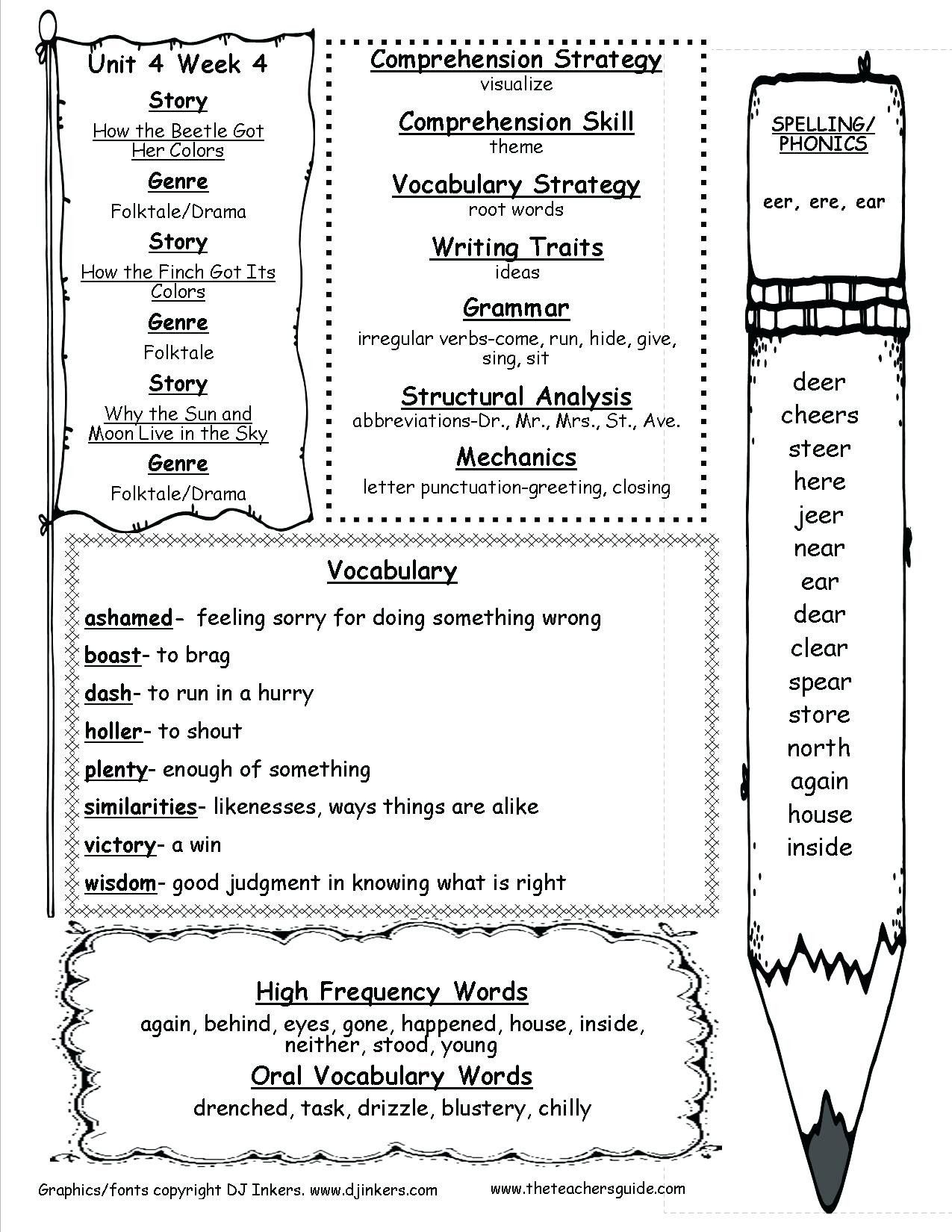 Summarizing Worksheets 4th Grade Free [ 1650 x 1275 Pixel ]