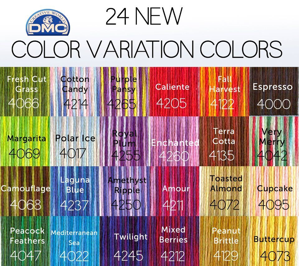 New Dmc Color Variations Colors With Names Nimble Needling