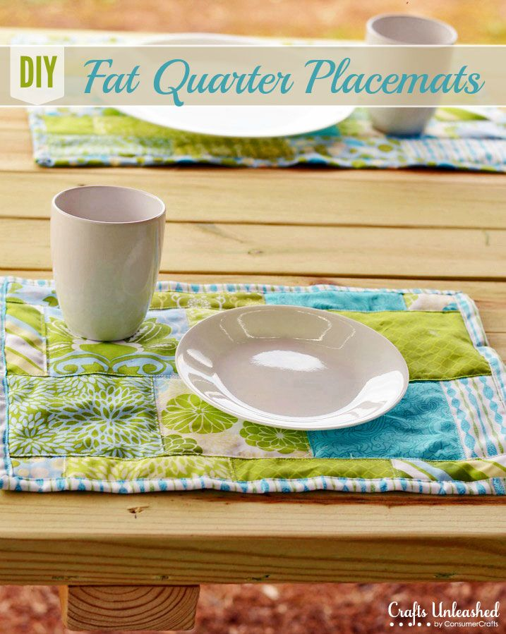 Fat Quarter Projects: Make Your Own Placemats | Nähen