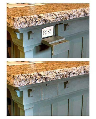 Kitchen counter/island hidden outlet idea …   Electrical Fixtures ...