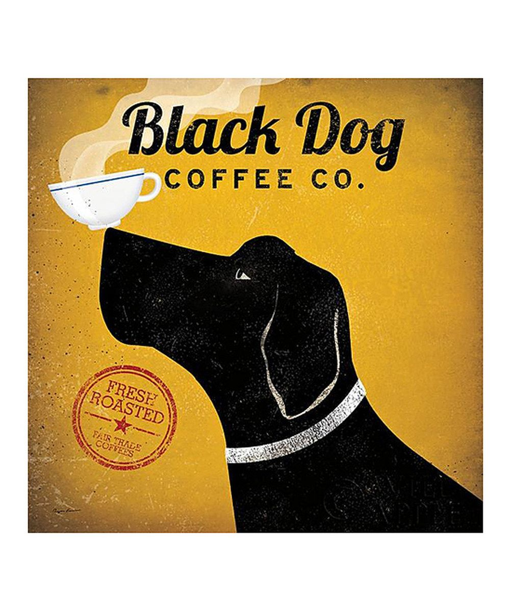 This \'Black Dog Coffee\' Canvas Wall Art by Epic Art is perfect ...