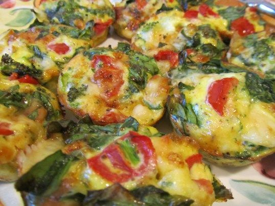 Mini frittatas made in a cupcake tin - great for a make-ahead breakfast
