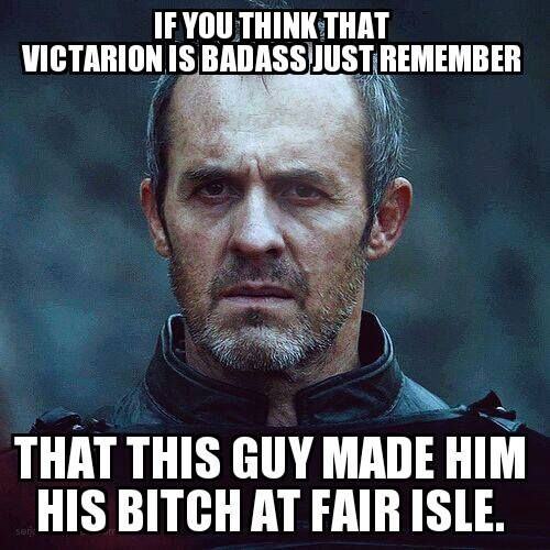 55ba675bc606477fc06253412baa9947 victarion's comparison with stannis is a great achievement for