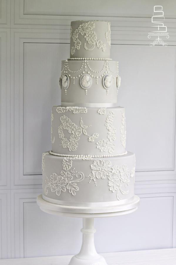 Dove Grey Wedding Cake By Sophias Cake Boutique